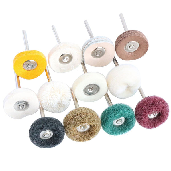 "1"" Wool Felt Grinding sanding Head Abrasive Buffing Wheel 2.35/3mm shank Cotton Thread Polishing mini Brush for Dremel Dril - The most popular products on Tiktok 