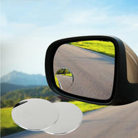 1 pair 360 Degree frameless ultrathin Wide Angle Round Convex Blind Spot mirror for parking Rear view mirror high quality - The most popular products on Tiktok | GOWOW