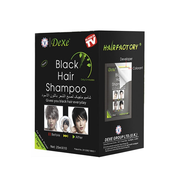 10 PCS Dexe white hair blackening hair dye portable two-in-one package dyed black hair shampoo one wash black TSLM2 - The most popular products on Tiktok | GOWOW