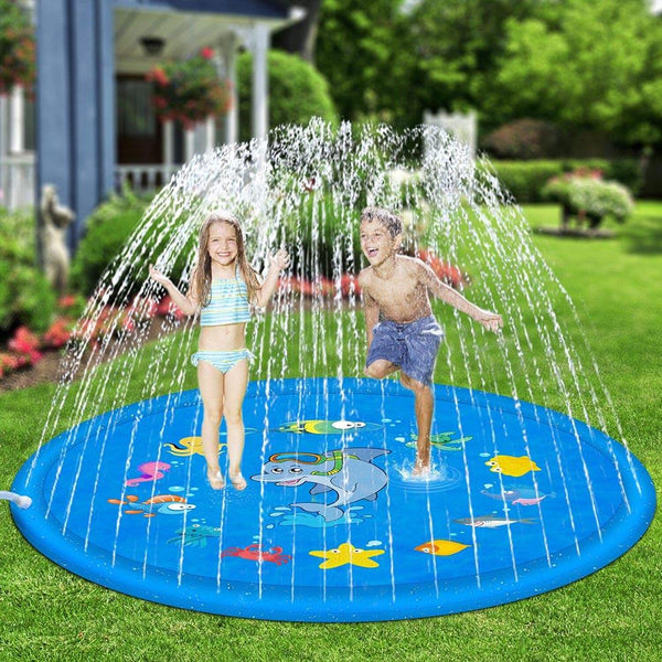 100/170cm Outdoor Lawn Beach Sea Animal Inflatable Water Spray Kids Sprinkler Play Pad Mat Water Games Beach Mat Cushion Toys - The most popular products on Tiktok | GOWOW