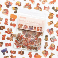 100 pcs/pack Mini Transparent 3D PVC Crystal Candy Stickers Creative Animal Dolphin Fruit Cat Decorative Sticker for Diary Album - The most popular products on Tiktok | GOWOW
