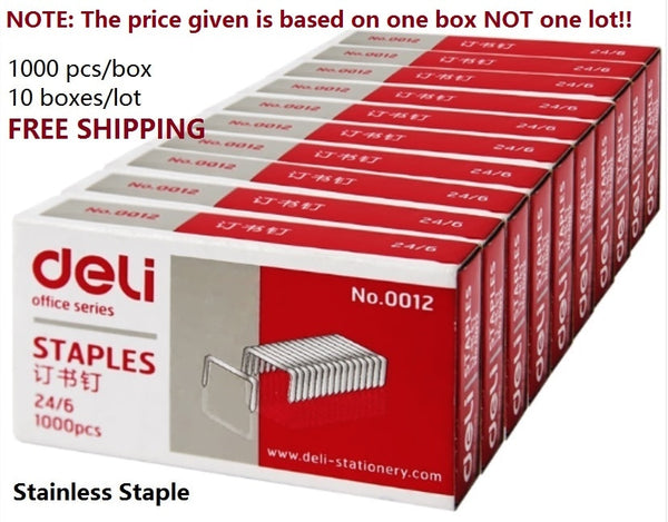 1000pcs/box stainless steel staples nail 24/6 unified staple for Office accessories School supplies 12# - The most popular products on Tiktok | GOWOW