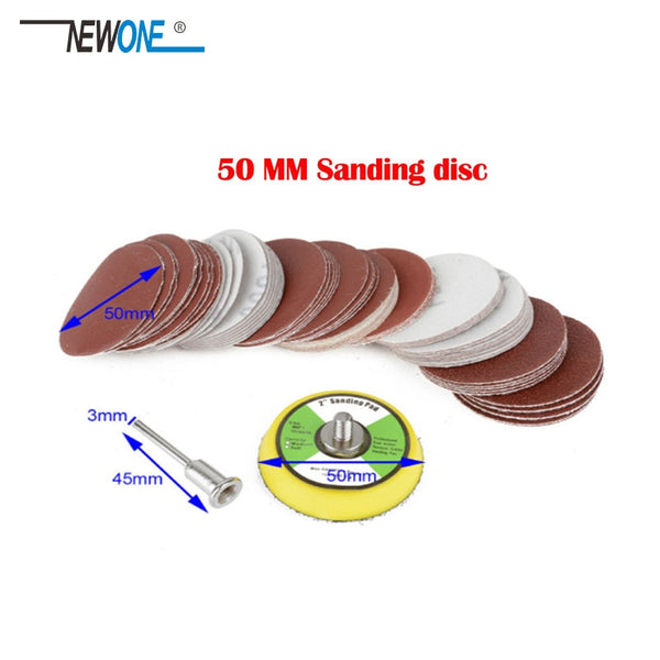 "100Pcs 2"" 50mm Sander Disc Sanding Polishing Pad Sandpaper 80-3000 Grits - The most popular products on Tiktok 
