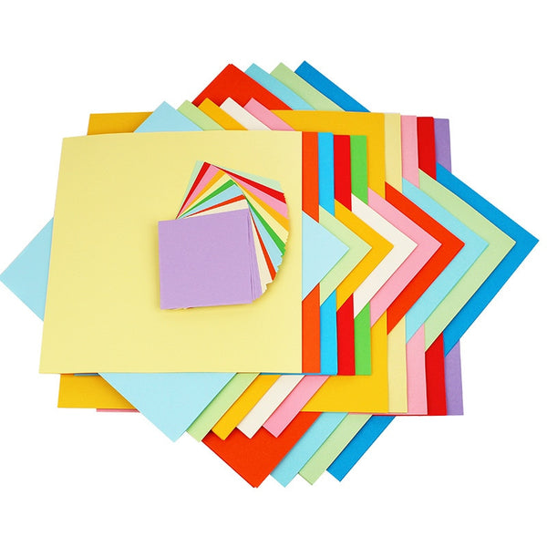 100pcs Square Origami Paper Double Sides Solid Color Folding Paper Multicolor Kids Handmade DIY Scrapbooking Craft Decor - The most popular products on Tiktok | GOWOW
