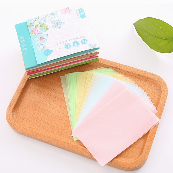 100sheets/pack Absorbent Paper Oil Control Wipes Makeup Cleansing Summer Blotting Facial Oil Shrink Pore Face Cleaning Tool - The most popular products on Tiktok | GOWOW