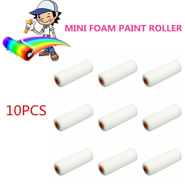 10PCS 100mm Mini White Durable Foam Paint Roller Sleeves Painting Decorating Sponge Rollers Art Sets Painting Supplies - The most popular products on Tiktok | GOWOW