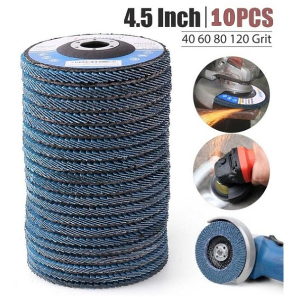 10PCS Professional Flap Discs 115mm 4.5 Inch Sanding Discs 40/60/80/120 Grit Grinding Wheels Blades For Angle Grinder - The most popular products on Tiktok | GOWOW