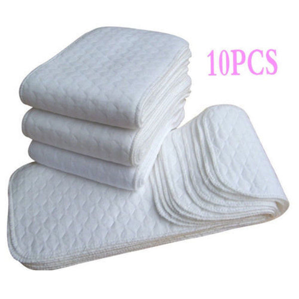 10PCS Soft Reusable Baby Cloth Diaper Nappy Liners insert 3 Layers Cotton Washable Baby care - The most popular products on Tiktok | GOWOW