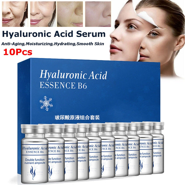 10Pcs Vitamin Hyaluronic Acid Serum Moisturizer Facial Skin Care Set Anti Wrinkle Anti Aging Collagen Essences Liquid - The most popular products on Tiktok | GOWOW
