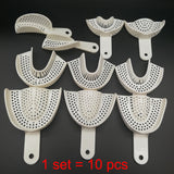 10Pcs/set Dental Impression Plastic Trays Without Mesh Tray Dentist Tools Dentistry Lab Material Teeth Holder Trays - The most popular products on Tiktok | GOWOW