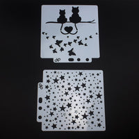 10pcs/set DIY Craft Layering Stencil For Wall Painting Tattoo Stencil for Body Art Scrapbooking Templates Embossing Paper Card - The most popular products on Tiktok | GOWOW