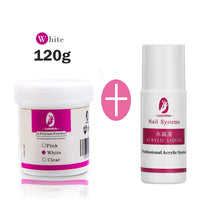 120ml Acrylic Powder Clear Pink White Carving Crystal Polymer 3D Nail Art Crystal Powders Poly Gel Tips Builder for Nails - The most popular products on Tiktok | GOWOW