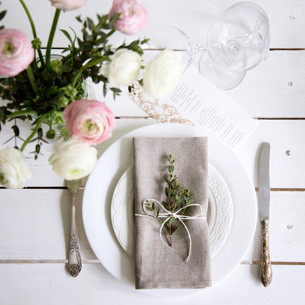 12Pcs Linen Napkins Linen Fabric Napkin Table Dinner Napkins For Wedding Party 4 Size Available - The most popular products on Tiktok | GOWOW