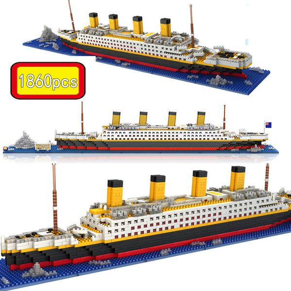 1860 Pcs NO Match RS Legoinglys Titanic Sets Cruise Ship Model Boat DIY Building Diamond Mini Blocks Kit Children Kids Toys - The most popular products on Tiktok | GOWOW
