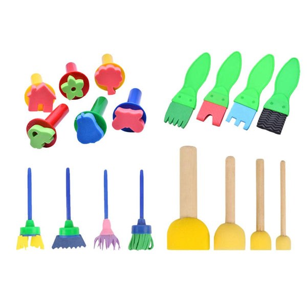 18pcs /Set DIY Painting Tools Stamps Toys Flower Stamp Sponge Brush Set Art Supplies For Kids - The most popular products on Tiktok | GOWOW