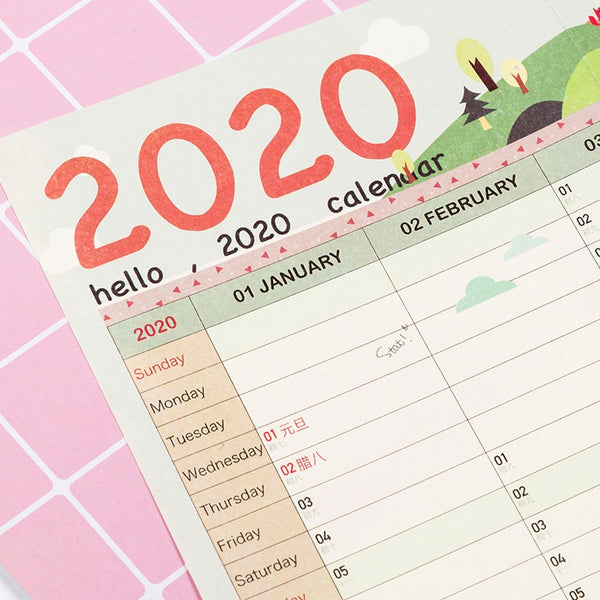 1Pcs  2020 Calendar Wall Calendar 365 Days Countdown Diary Calendar New Arrive Study New Year Plan Schedule Hot Sell - The most popular products on Tiktok | GOWOW