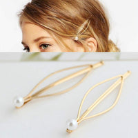 1Pcs Simple Elegant Style Baitie Pearl Lady's Golden Hair Clip Hairband Pin Barrette Bride Hairpin Headdress Accessories Styling - The most popular products on Tiktok | GOWOW