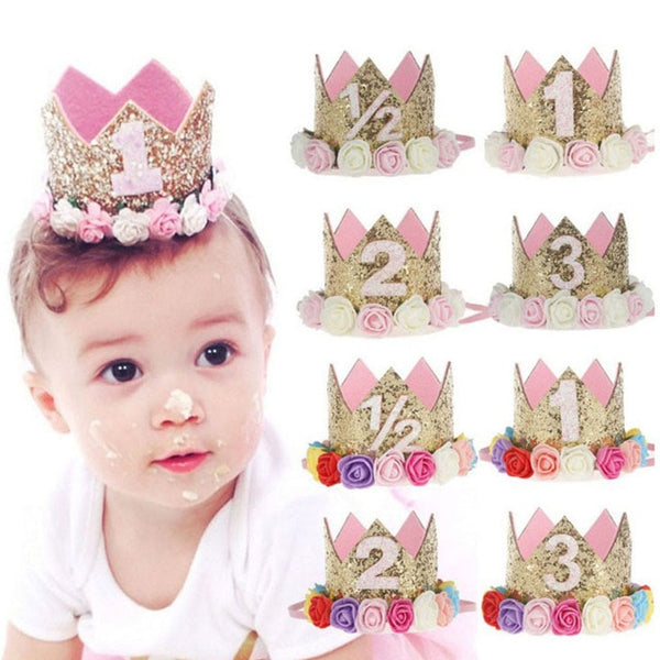1pc Happy Birthday Party Hats Decor Cap One Birthday Hat Princess Crown 1st 2nd 3rd Year Old Number Baby Kids Hair Accessory - The most popular products on Tiktok | GOWOW