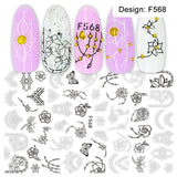1pcs 3D Nail Slider Black Russia Letter Sticker Decals  Flamingo Design Adhesive Manicure Tips Nail Art Decorations CHF554-563 - The most popular products on Tiktok | GOWOW