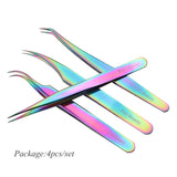 1pcs Curved Straight Tweezers Rainbow Eyelash Extension Nails Decor Picker Dead Skin Remover Manicure Makeup Nail Tools JIFBT1-4 - The most popular products on Tiktok | GOWOW
