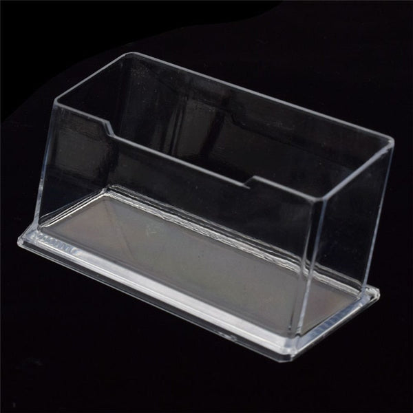1pcs New Clear Desk Shelf Box storage Display Stand Acrylic Plastic transparent Desktop Business Card Holder - The most popular products on Tiktok | GOWOW