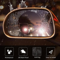 2/4/8pcs Car Side Rearview Mirror Waterproof Anti-Fog Film Side Window Glass Film Can Protect Your Vision Driving On Rainy Days - The most popular products on Tiktok | GOWOW