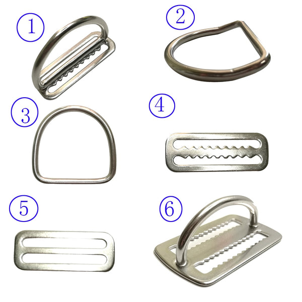 "2"" Stainless Steel Scuba Diving Weight Belt Slide Keeper D Ring Webbing Harness Belt Retainer Stopper Freediving BCD Accessoires - The most popular products on Tiktok 