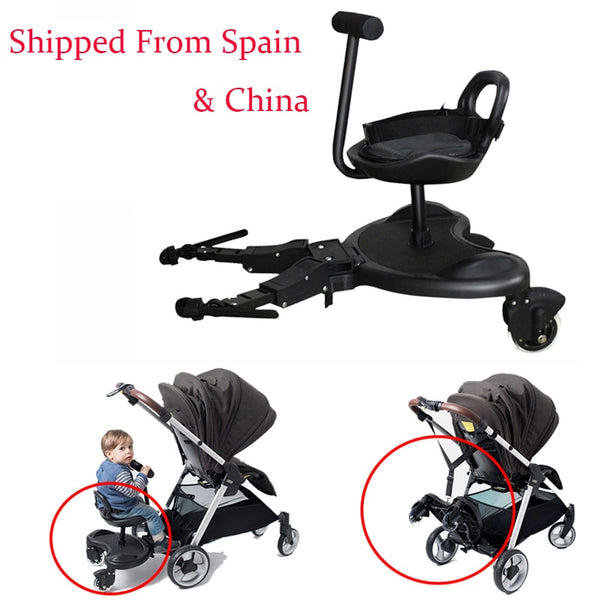 2-in-1 Cozy Twins stroller Standing Plate Rider Buggy Sibling Board Baby stroller Trailer Sibling Pedal Second Child Artifact - The most popular products on Tiktok | GOWOW
