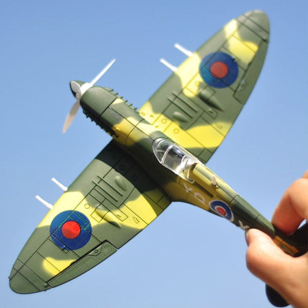 20*18CM  Assemble Fighter Model Toys Building Tool Sets Combat Aircraft Diecast War-II BF-109 Hurricane Spitfire Pirate Military - The most popular products on Tiktok | GOWOW