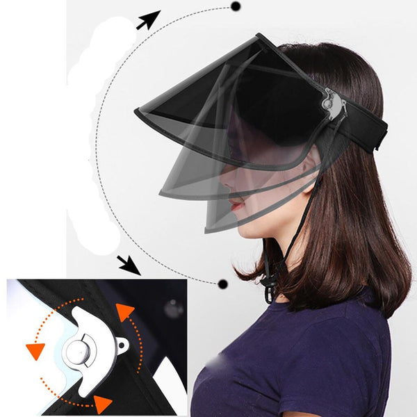 20# Safe Helmet Multifunctional Protective Cap Sun Hat Uv Protection Adjustable Sun Head Mask + Sports Compression Arm Cover - The most popular products on Tiktok | GOWOW