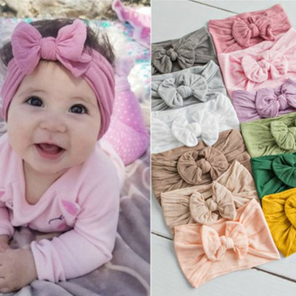 2019 Brand New Newborn Toddler Baby Girls Head Wrap Rabbit Big Bow Knot Turban Headband Hair Accessories Baby Gifts for 0-2Y - The most popular products on Tiktok | GOWOW