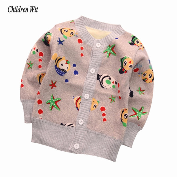 2019 New Baby Sweaters Autumn Winter Knitted Cardigan Plus Thick Velvet Warm Kids Clothes Boys Girls Sweater Casual Outerwear - The most popular products on Tiktok | GOWOW