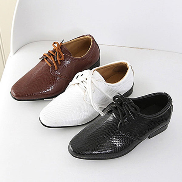 2019 New Kids Genuine Leather Wedding Dress Shoes for Boys Brand Children Black Wedding Shoes Boys Formal Wedge Sneakers 21-36 - The most popular products on Tiktok | GOWOW