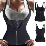 2019 Shaper Neoprene Sauna Sweat Vest Waist Trainer Cincher Women Body Slimming Trimmer Corset Workout Thermo Push Up Yoga Shirt - The most popular products on Tiktok | GOWOW