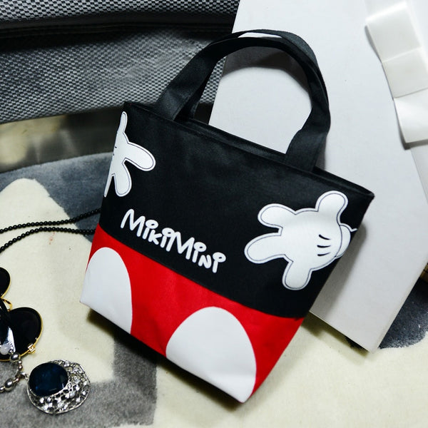 2019 new Disney fashion trend handbags casual small bag mickey mouse portable canvas bag handcuffs bag lunch box bag - The most popular products on Tiktok | GOWOW
