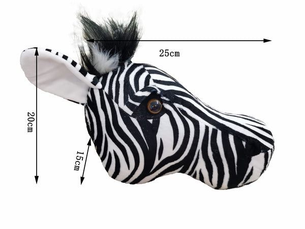 2020 Zebra Hunting decorations hunter safari wall decoration stuffed animals lifelike reallife for nursery or kids room forest - The most popular products on Tiktok | GOWOW
