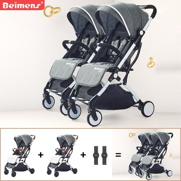 2020 twins baby stroller ultra-light folding umbrella stroller travel double strollers brand can be on plane car - The most popular products on Tiktok | GOWOW