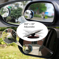 2PCS Car Interior Rearview Mirror Sub 360 Degree Rotatable Car Blind Spot Mirror Auto Saftety Mirrors - The most popular products on Tiktok | GOWOW