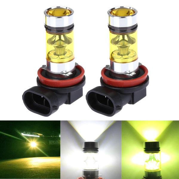 2PCS H8 H11 9005 HB3 9006 HB4 Car Fog LED Light Canbus DRL Car Driving Running Fog Lamp 20LED 2835 100W 12V White Green Yellow - The most popular products on Tiktok | GOWOW