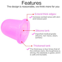 2PCS Jar Vacuum Cupping Cans for Massage Ventosa Celulitis Suction Cup Chinese Suction Cups Face Massage Cans Anti Cellulite - The most popular products on Tiktok | GOWOW