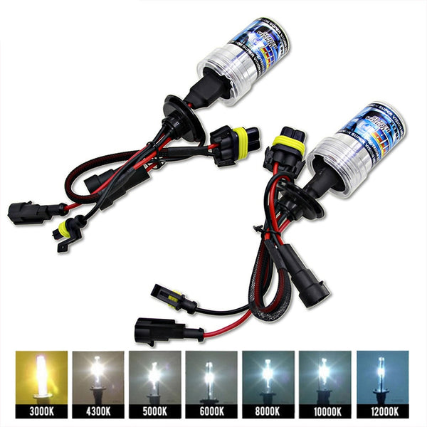 2PCs 12V 55W Xenon H4 Bulbs H7 H1 H3 HID Conversion KitH11 H8 9005 Auto Car Headlight Halogen Lamp 3000k 4300k 5000K 6000k 8000K - The most popular products on Tiktok | GOWOW