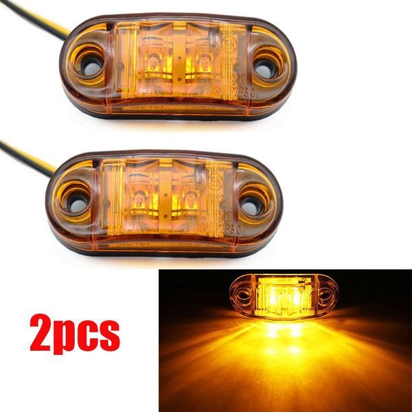 2Pcs 12V / 24V LED Side Marker Lights Car External Lights Warning Tail Light Auto Trailer Truck Lorry Lamps Amber color - The most popular products on Tiktok | GOWOW