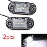 2Pcs 12V / 24V LED Side Marker Lights Car External Lights Warning Tail Light Auto Trailer Truck Lorry Lamps White color - The most popular products on Tiktok | GOWOW
