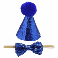 2Pcs/set Pet Dogs Caps With Bowknot Cat Dog Birthday Costume Sequin Design Headwear Cap Hat Christmas Party Pets Accessories - The most popular products on Tiktok | GOWOW