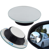 2pcs Car 360 Degree Framless Blind Spot Mirror Wide Angle Round Convex Mirror Small Round Side Blindspot Rearview Parking Mirror - The most popular products on Tiktok | GOWOW
