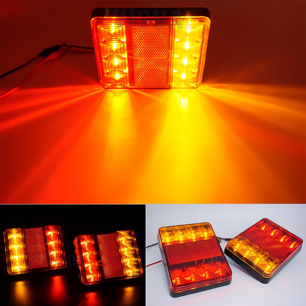 2x 12V Waterproof Durable Car Truck LED Rear Tail Light Warning Lights Rear Lamp for Trailer Caravans UTE Campers ATV Boats - The most popular products on Tiktok | GOWOW