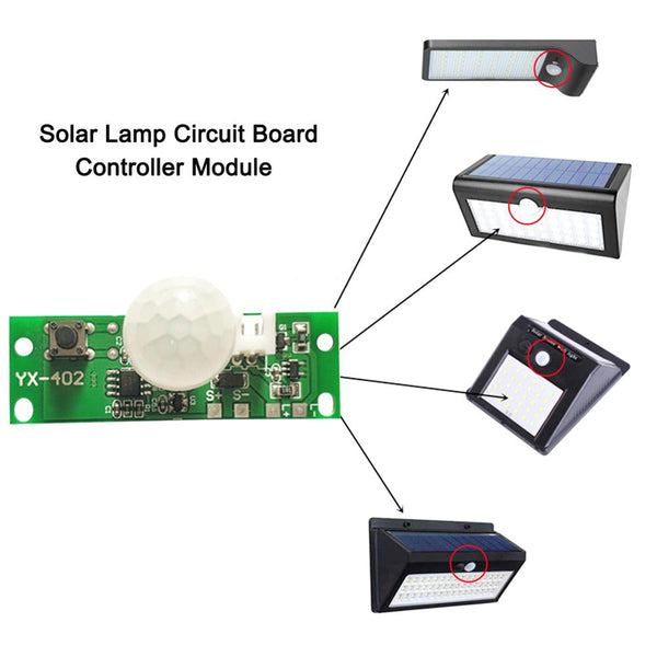 3.7V DIY Kit Solar Lamp Board Control Sensor Night Light module Controller Module Infrared Solar Lamp Board Panel Circuit Board - The most popular products on Tiktok | GOWOW