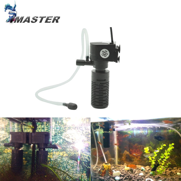 3 in 1 Filter for Aquarium Fish Tank Filter Mini Fish Tank Filter Aquarium Oxygen Submersible Water Purifier - The most popular products on Tiktok | GOWOW