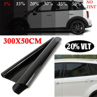 300*50 cm VLT Black Film Roll Tint Window Car Tint Auto Glass Window Summer House Sunscreen UV Adhesive Film Stickers - The most popular products on Tiktok | GOWOW