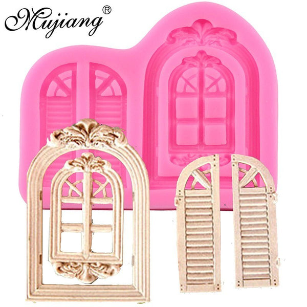 3D Door Window Silicone Mold Frame Cake Border Fondant Cake Decorating Cookie Baking Christmas Candy Chocolate Gumpaste Moulds - The most popular products on Tiktok | GOWOW
